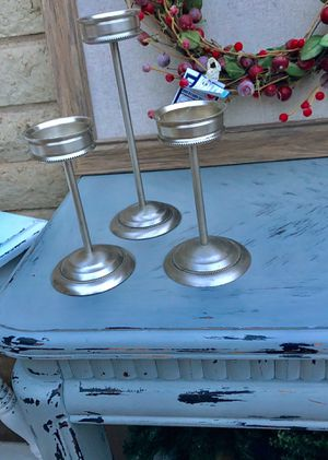 3 Gorgeous silver candle stands for Sale in Peoria, AZ