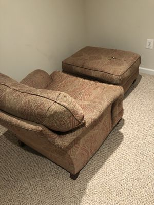 Chair with matching ottoman for Sale in Vienna, VA