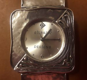 Designer SILPADA Hammered Sterling Silver Square Link Watch for Sale in Frederick, MD