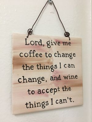 Wine Serenity Prayer sign (6in x 6in) for Sale in Pittsburgh, PA