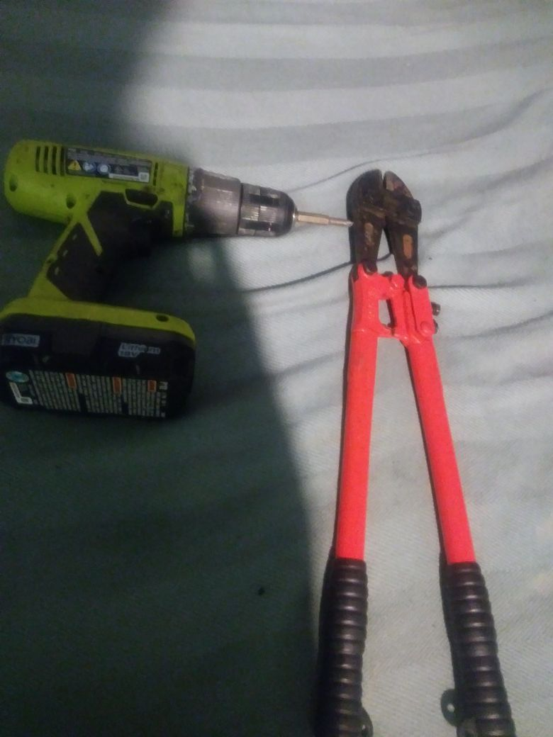 Ryobi drill completely charged