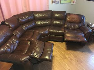 Cheers Leather 3 Piece Sectional Sofa For In Middletown Ct