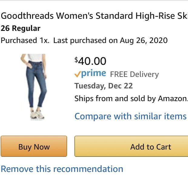 Goodthreads High Rise Skinny Jeans