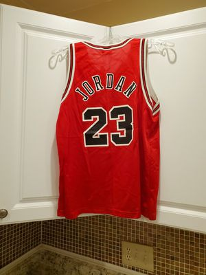 Photo Kids Large Michael Jordan Champion Chicago Bulls Jersey in Excellent Condition!