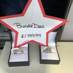14K & 10K Gold Diamond Ring Set Bundle Was $1999 Now Only $1799 Ask For Chris  Thumbnail