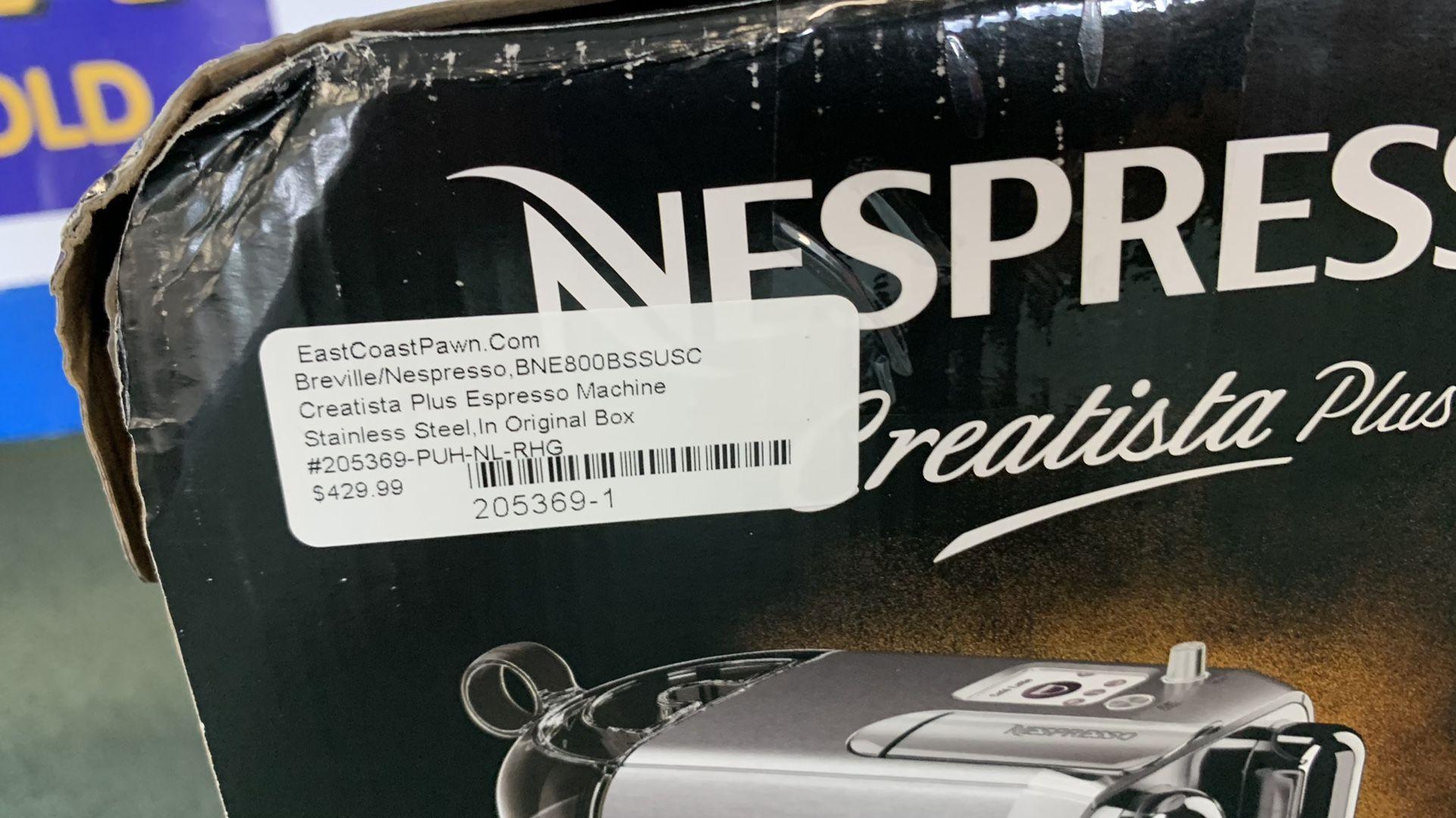 Brevile Creatista Espresso Machine