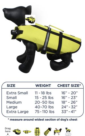 Pet flotation life vest- size L. New never used for Sale in Katy, TX