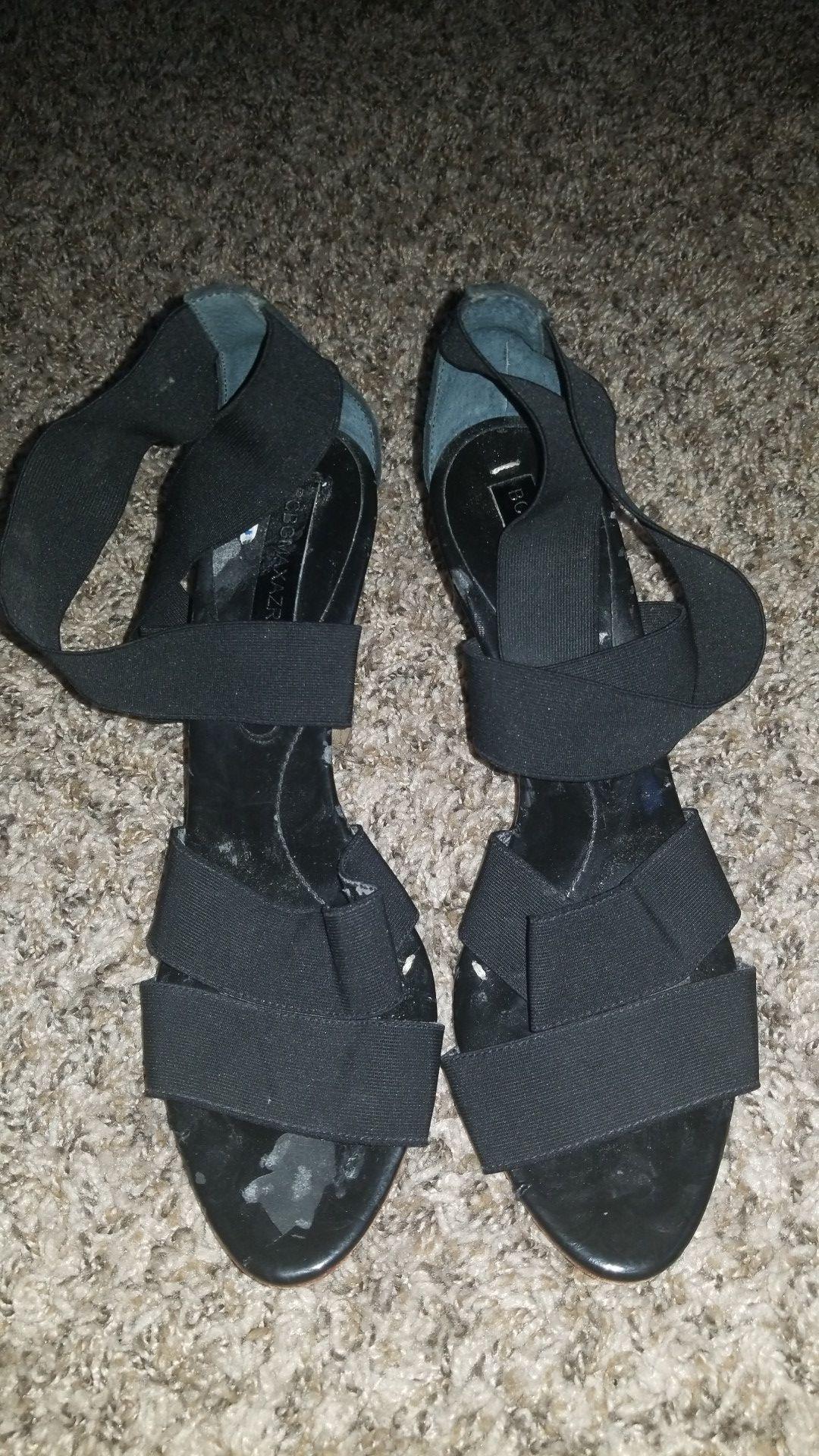Black brown heels size 7
