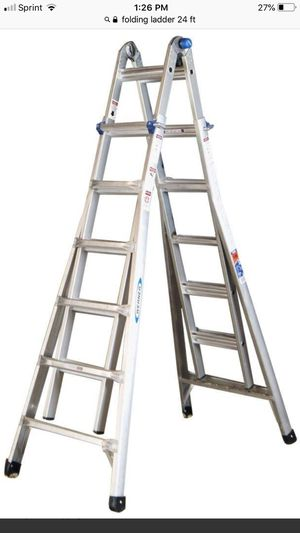 22' Folding Extension Telescopic Ladder for Sale in Apex, NC