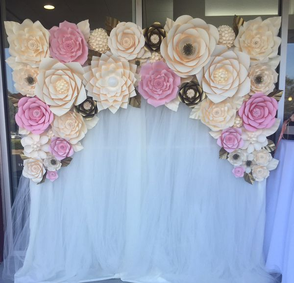 Paper Flower Backdrop Arch Wedding Birthday Party For Sale In Hayward Ca Offerup