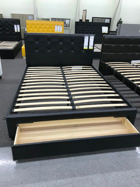Queen Bed With Drawer and Mattress Included!