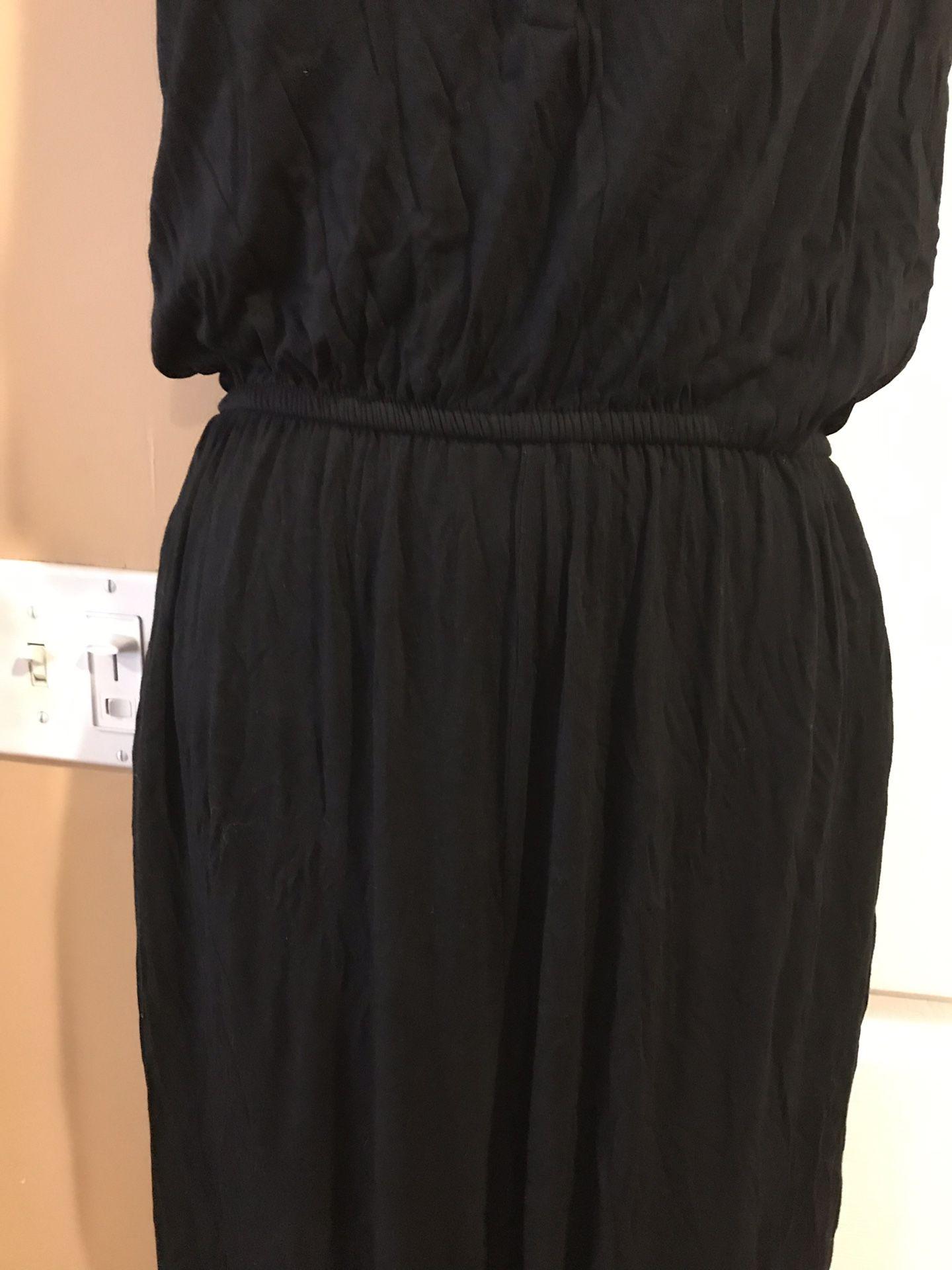 Name brand (BARll) lrayon material relax jumpsuit
