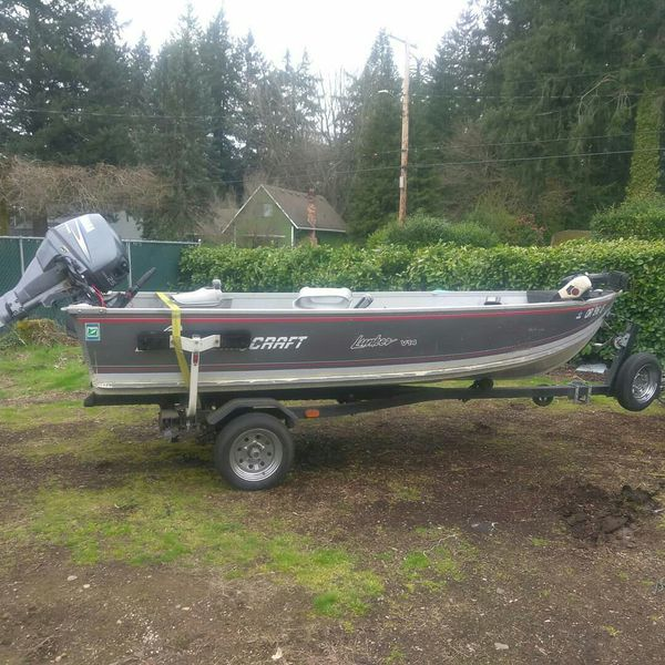 Boat and motor and trailer 25hp. Portland, OR
