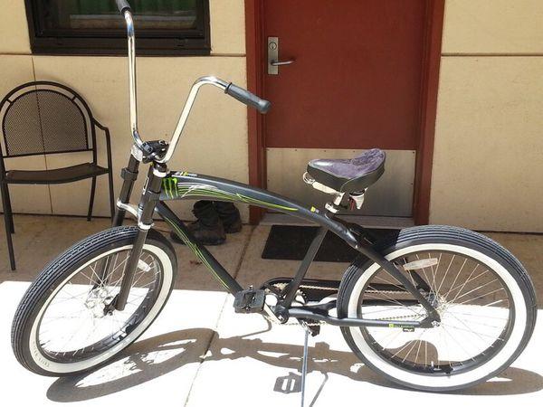 Limited Edition Monster Energy Felt Bicycle Beach Cruiser
