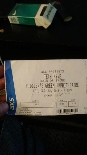Tech n9ne ticket for Sale in Lakewood, CO