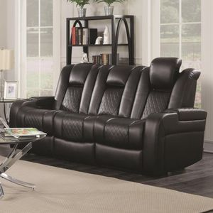 Delangelo Casual Power Reclining Sofa with Cup Holders, Storage Console and USB Port for Sale in Atlanta, GA
