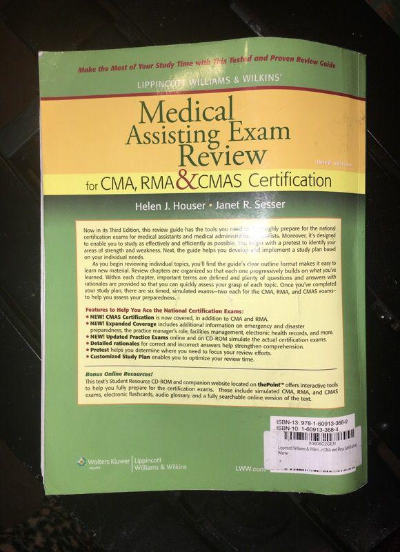 MEDICAL ASSISTING EXAM REVIEW for CMA, RMA, & CMAS CERTIFICATION for ...