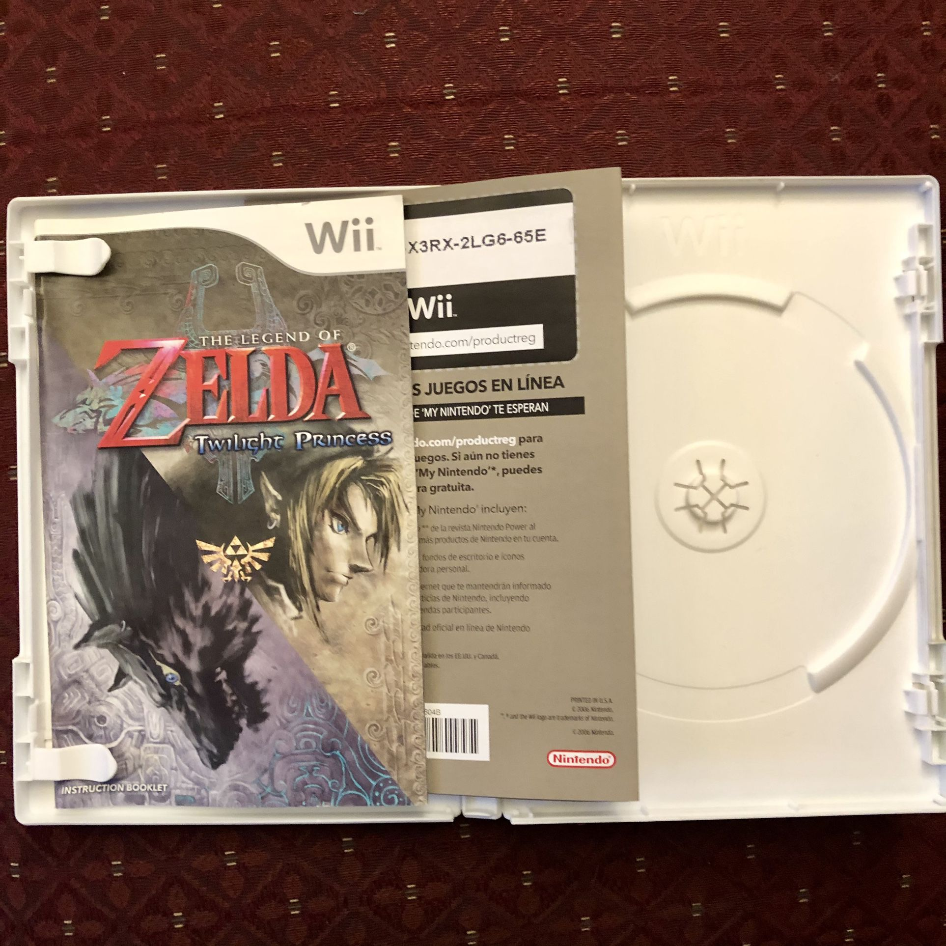 The Legend Of Zelda Twilight Princess Wii (Case And Manual Only)