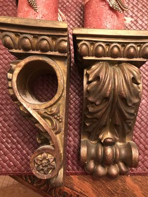 Vintage shelf French scroll sconces/pair for Sale in Silver Spring, MD