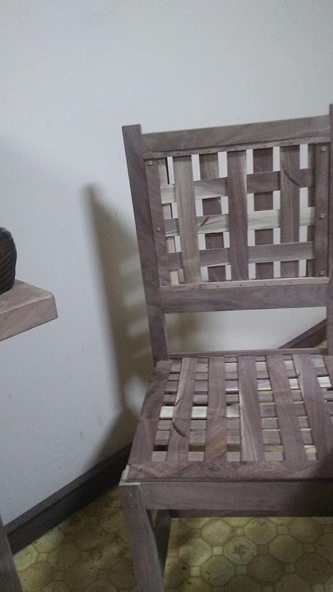 Walnut chairs
