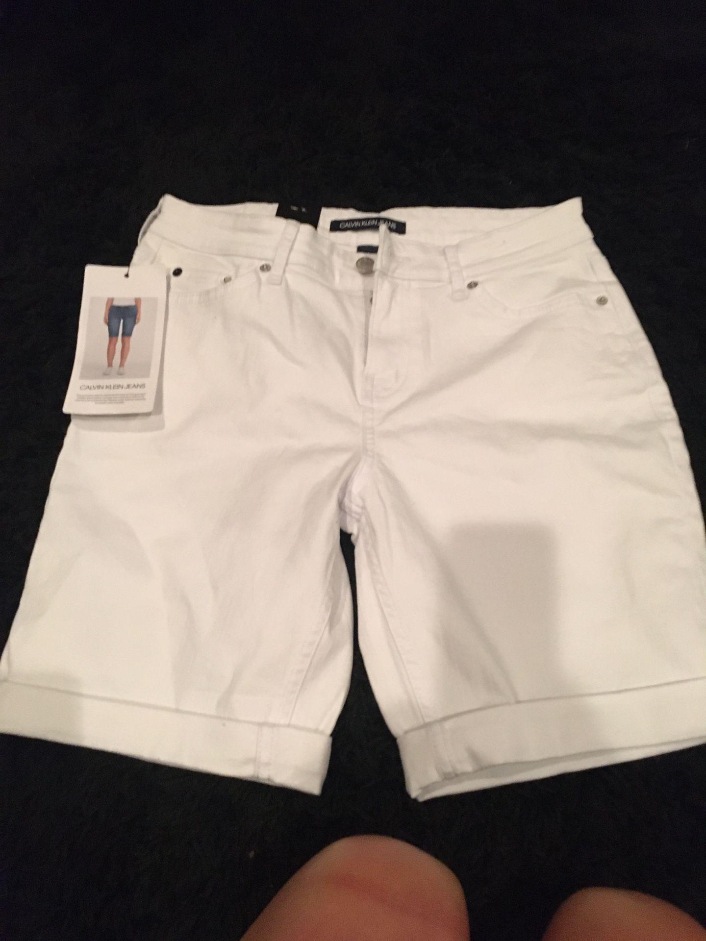 Calvin Klein Jean shorts brand new size 8
