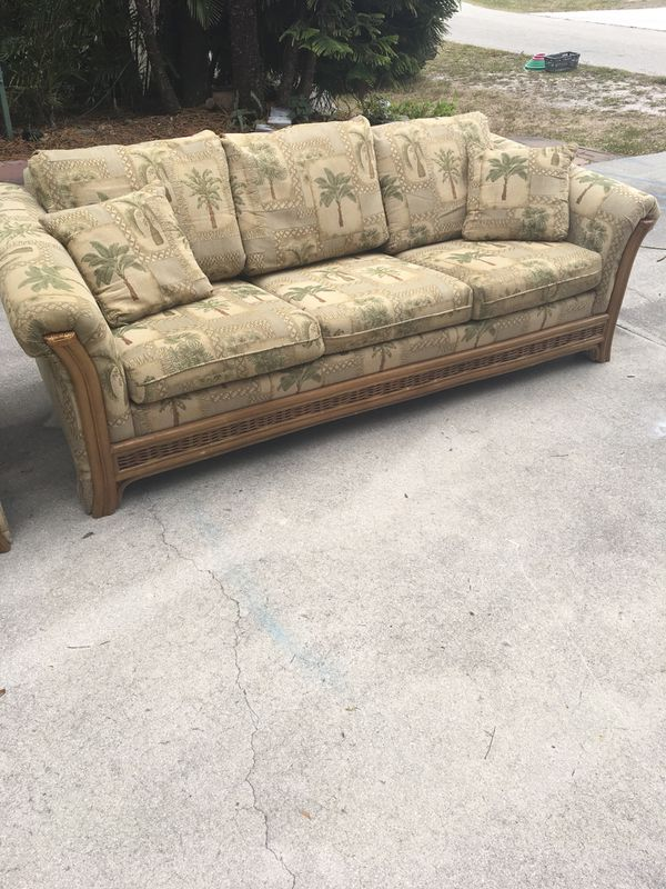 Tommy Bahama Sofa Sleeper Queen Sized And Matching Chair Used But Excellent Condition Comes With Sheets For Furniture In Fort Myers