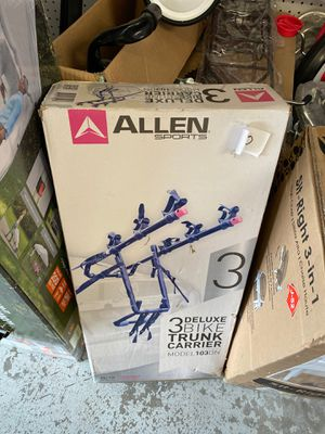 Photo New Allen Sports Deluxe 3-Bicycle Trunk Mounted Bike Rack Carrier, 103DN