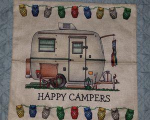 Scamp vintage trailer camper pillow cover for Sale in Palm Harbor, FL