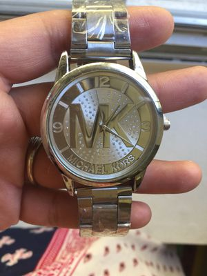 Mk Michael Kors Silver logo watch for Sale in Silver Spring, MD