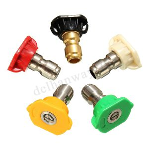 Pressure Washer Spray Nozzle Tips - 1/4 Quick Connection Design 2.5 GPM (5 Pack) for Sale in Fullerton, CA