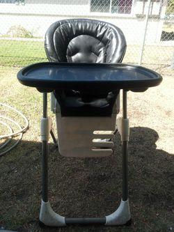 Graco portable black leather high chair Thumbnail