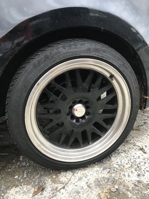 XXR rims and tires (19 inches) 3 of them. for Sale in Rockville, MD