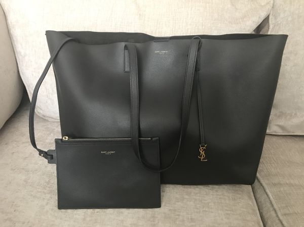 1980bf5eb77a Authentic YSL Bag Shopping with Removibl Soft Sfoderato Coal - Like New  Excellent