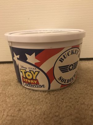 Toy Story Soldier Collectible bucket for Sale in Saint Cloud, FL