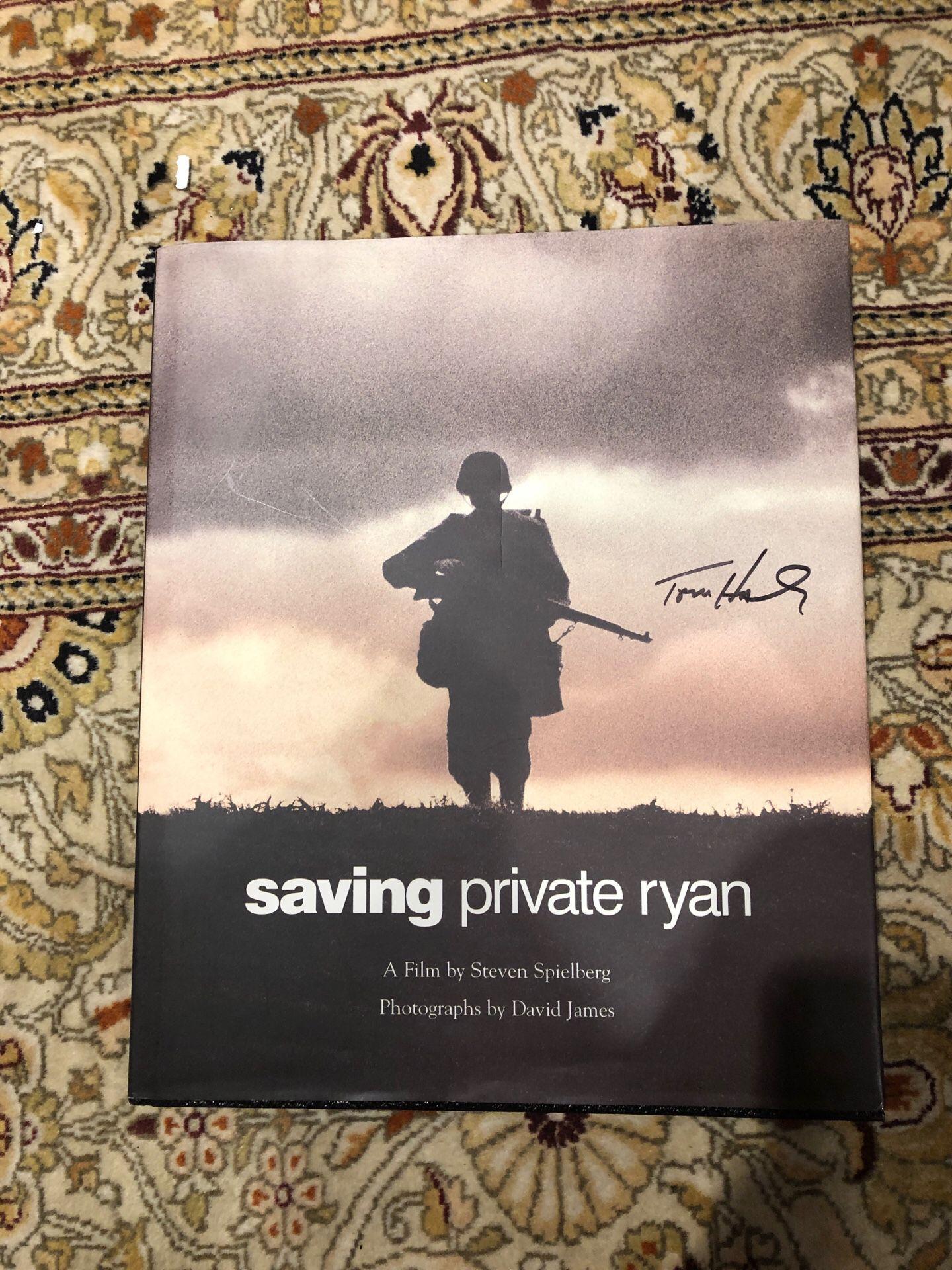 Signed Tom Hanks book