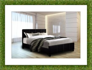 Platform bed black free mattress and shipping for Sale in Temple Hills, MD