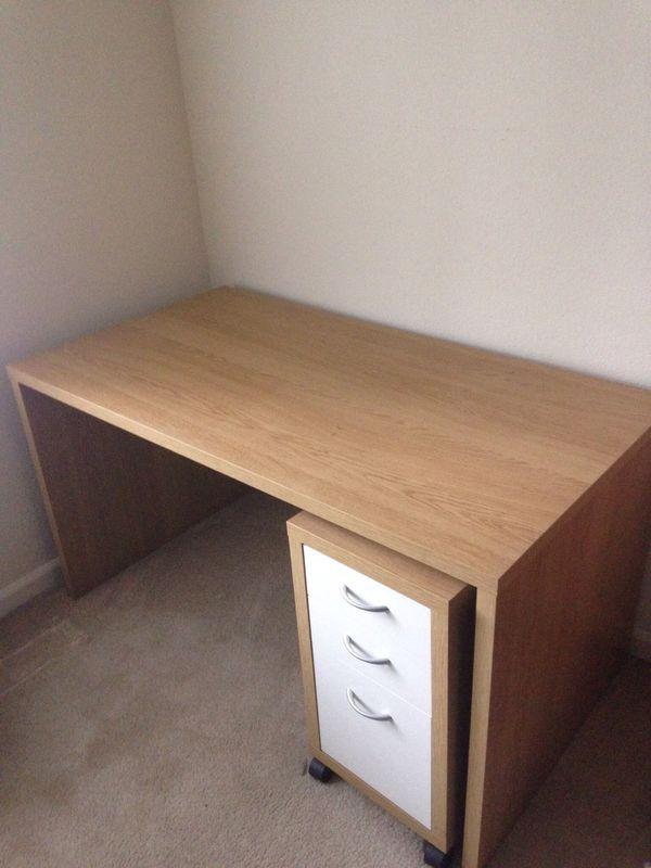 Ikea Mikael Desk Rolling 3 Drawer Unit For Sale In Santa Clara Ca Offerup