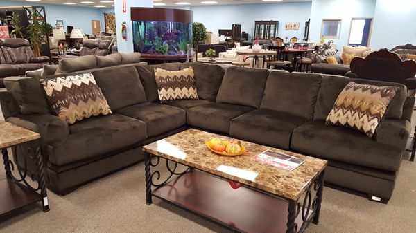 BRAND NEW DARK BROWN PLUSH CORNER LARGE SECTIONAL SOFA SUPER COMFORTABLE  for Sale in King of Prussia, PA - OfferUp