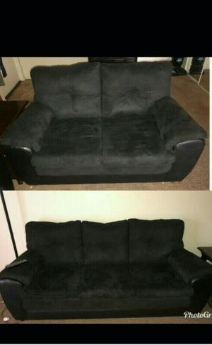 Two black sofa set for Sale in Bedford, OH