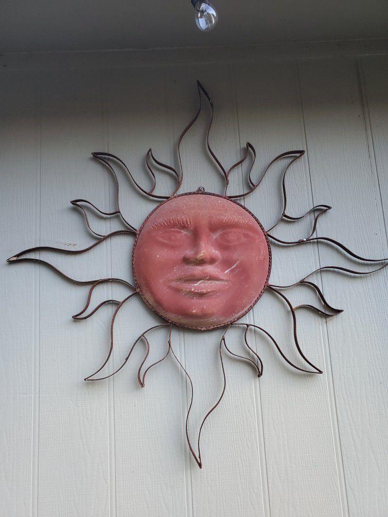 Clay Sun Outdoor Decor