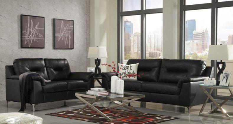 ‼ASHLEY ‼[SPECIAL] Tensas Black Living Room Set