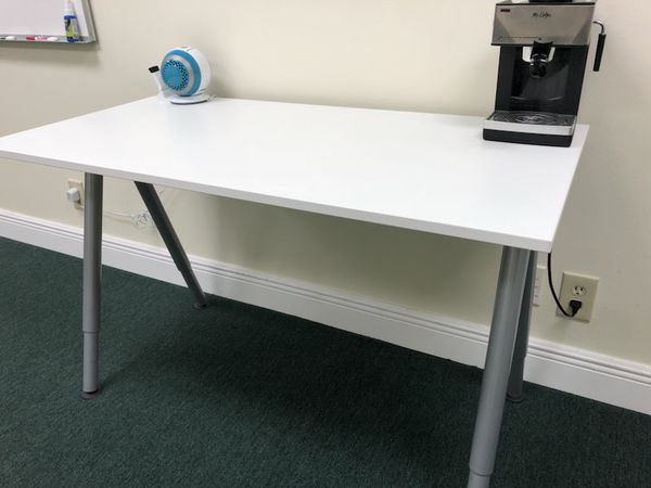 Ikea Thyge Home Office Desk White Gray For Sale In Fort