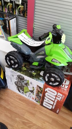 Quad ,electric scooter , power wheels , hoverboard , car , toys, skateboards. Thumbnail
