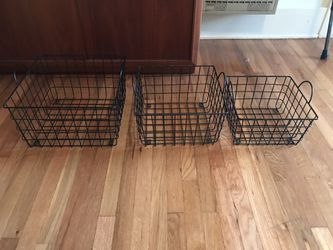3 PC Metal Basket Set (could be wall shelves) Thumbnail