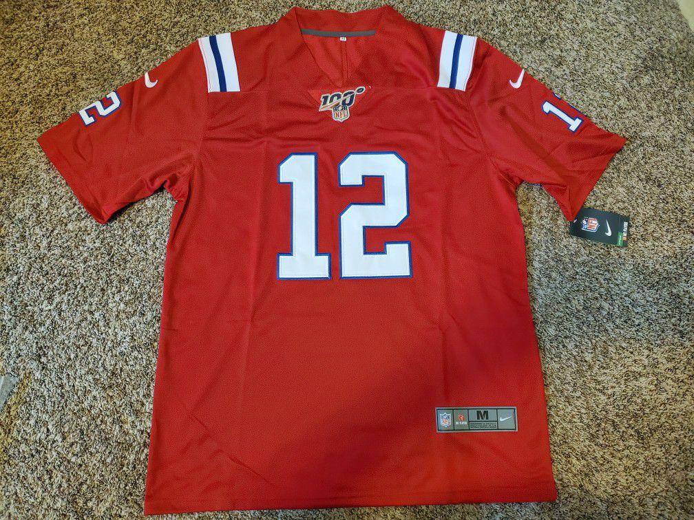 Brady #12 Patriots Jersey Medium