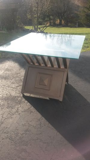 Beautiful solid brass and glass coffee table for Sale in Silver Spring, MD