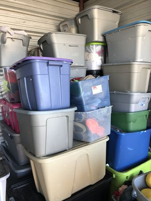 Huge lot of mixed clothes and shoes kids women men about 40 containers full for Sale in Davenport, FL