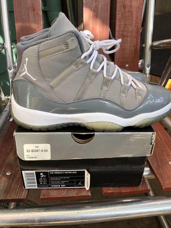 76b0f140f646 Air Jordan Retro 11 Cool Grey 2010 Sz 5Y NO TRADES!!! (Clothing   Shoes) in  San Francisco