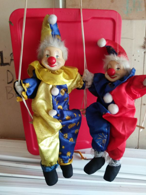 Porcelain clown puppets for Sale in Indianapolis, IN - OfferUp
