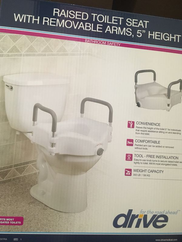 Fabulous Raised Toilet Seat With Removable Arms 5 Height Brand New For Sale In Las Vegas Nv Offerup Inzonedesignstudio Interior Chair Design Inzonedesignstudiocom